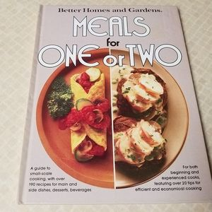 """BH&G's 1979 Cookbook """"Meals for One or Two"""""""